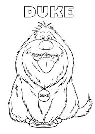 Secret Life Of Pets Coloring Pages
