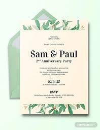 21 Sample Anniversary Invitations Word Psd Ai Indesign