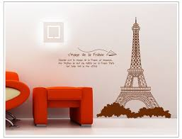 eiffel tower bathroom decor  paris eiffel tower home decoration wall stickers vinyl painting