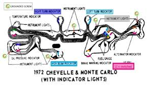 no dash lights page chevy high performance forums at super 72 chevelle cluster colorized