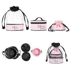 3 pieces victoria s secret vs pink drawstring cosmetic bag