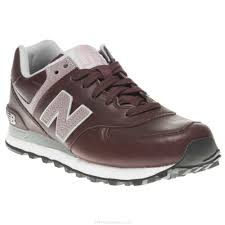 women new balance leather burdy 574 trainers rubber