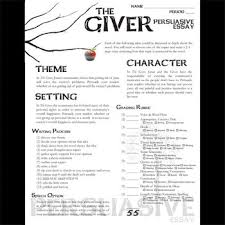 giver essay prompts and speech w grading rubrics persuasive the giver essay prompts and speech w grading rubrics persuasive