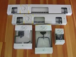 Black Bathroom Accessories Towel Bar Towel Ring Robe Hook Tp Black Bathroom Accessories Set 5