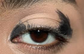 step 1 apply creamy black eye pencil