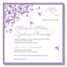 Budget Wedding Invitations Template Wedding Flourish Purple
