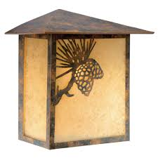 pinecone cabin outdoor wall sconce