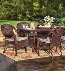 pvc outdoor patio furniture. prospect hill weatherresistant outdoor resin wicker oval dining table with powdercoated aluminum pvc patio furniture
