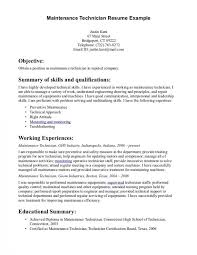 Industrial Maintenance Mechanic Sample Resume Customer Service Installation And Maintenance Resume Contemporary Resume 34