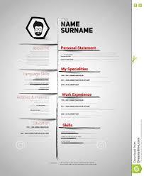 Minimalist Cv Resume Template Stock Illustration Image 77157277