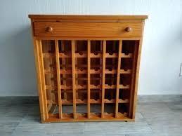 wine rack solid cherry wood furniture