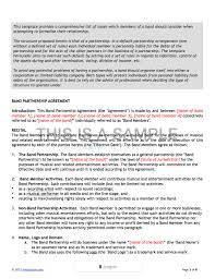 music management contract contemporary music artist contract template image documentation