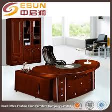 round office desk. Executive Antique Wood Office Furniture Modern Round Edge Desk U