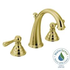 Brass Bathroom Faucet Moen Kingsley 8 In Widespread 2 Handle High Arc Bathroom Faucet