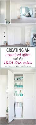 ikea office organizers. Home- Creating Built In Office Storage With The IKEA PAX System, Organized Office, Ikea Organizers N