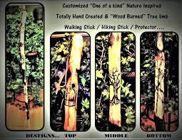 Wood Burning Designs For Walking Sticks Hiking Sticks Retirement Gift Hikers Gift Walking Stick