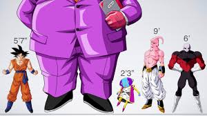 Size Comparison Of Dragon Ball Characters 2