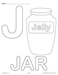 Small Picture Letter J Alphabet Coloring Pages 3 FREE Printable Versions