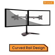 brateck lumi ldt08 t02 ldt08 t02 curved horizontal rail dual monitor array desktop stand