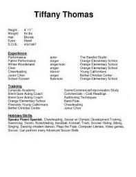 ... Child Actor Resume 21 Theatrical Resume Format Template Sample Beginner  Dance Throughout Format ...