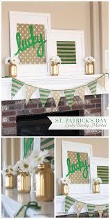 st pattys day home office decor. Burlap Mantel Decor: St. Patrick\u0027s Day St Pattys Home Office Decor T