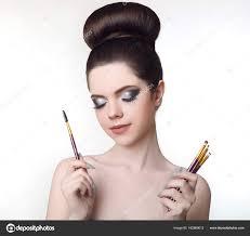 karen bowen makeup artist pretty with cute bun hairstyle and fash