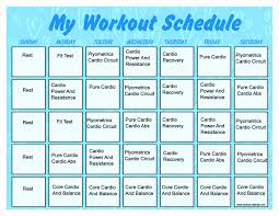Monthly Workout Schedule Template Awesome Monthly Workout Schedule Template Audiopinions