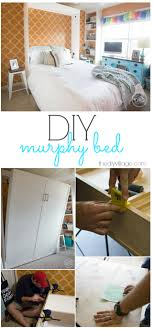 diy wall bed. DIY Murphy Bed Wall Project Diy