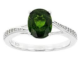 green russian chrome diopside sterling silver ring 1 86ctw noh169 jtv com