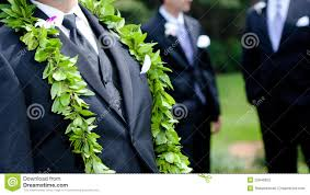 Groom S Flowers Hawaiian Wedding Stock Image Image Of Rose