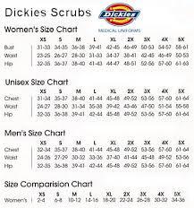 Dickies Size Chart Women S Pants Dickies Scrubs Size Chart
