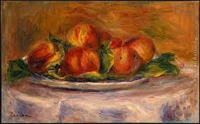 peaches on a plate painting pierre auguste renoir peaches on a plate art painting