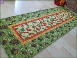autumn coffee table runner quilted