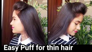 Hair Style For Long Thin Hair perfect puff for thin hair everyday quick easy puff hairstyles 4633 by wearticles.com