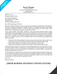 Resumes For High Schoolers Custom Examples Of Cover Letters For Resumes Highschool Students Resume
