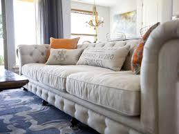 Ashley Furniture Sofa Bed Grey Sateen Window Curtain Cream Fabric