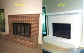 heat resistant paint for fireplace exquisite decoration innovation ideas painting brick white how to a