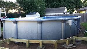 above ground pool on concrete bren arrow above ground pool installing above ground pool on concrete