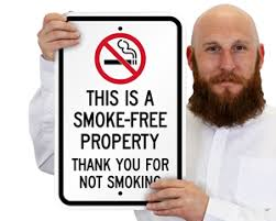 Thank You Not Thank You For Not Smoking Signs