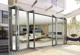 glass bifold doors. Pleasant-glass-bifold-doors-quality-aliminum-folding-furniture- Glass Bifold Doors