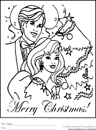 Coloring Pages Of Christmas Barbie Ken