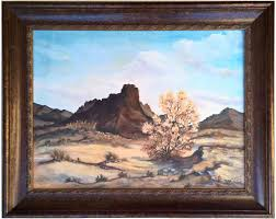 he then worked as a portrait painter and gave lessons at his house occasionally painting plein air landscapes such as the present charming miniature