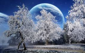 beautiful background images nature winter. Perfect Background A Beautiful Winter With Big Moon Background Images Nature F