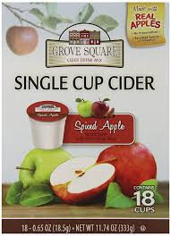 grove square cider ed apple 18 single serve cups pack of 3 amazon grocery gourmet food