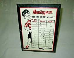 Easel Clothing Size Chart Vintage Clothing Shop Sign 130 00 Picclick