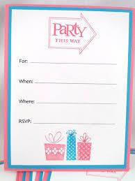 Blank Birthday Invitation Under Fontanacountryinn Com