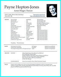 Musical Theater Resume Sample Best Of Acting Resume Example Here Are Actors Template How To Make A Theatre