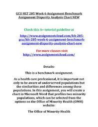 Gcu Hlt 205 Week 6 Assignment Benchmark Assignment By