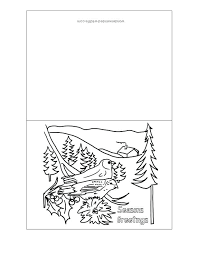 Print And Color Christmas Cards Christmas Card Coloring Printable
