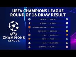uefa champions league round of 16 draw result 2018 19 official ucldraw you